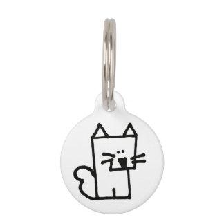 Cat Meow Meepple Round Pet Tag