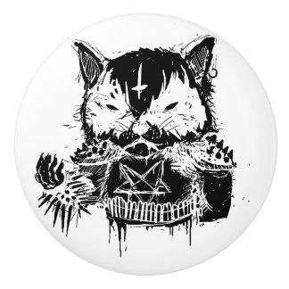 Cat Metal Ceramic Knob