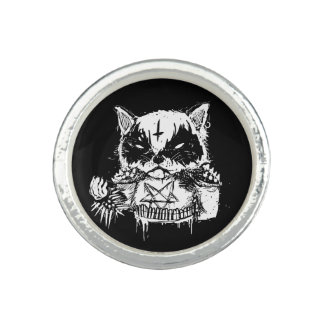 Cat Metal Photo Ring