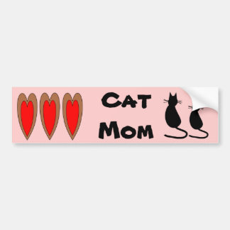 Cat Mom Bumper Sticker