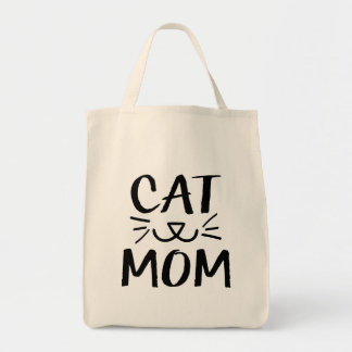 Cat Mom funny grocery bag