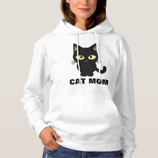 CAT MOM hoodies and T-shirts, black kitty