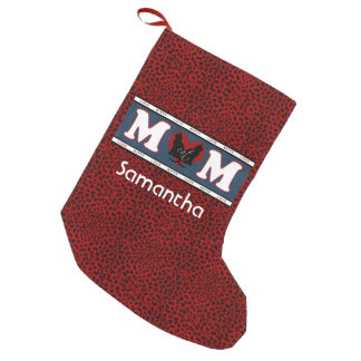 Cat Mom Leopard Print Personalized Stocking