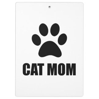 Cat Mom Paw Clipboards
