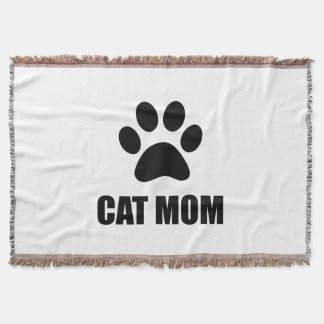 Cat Mom Paw Throw Blanket