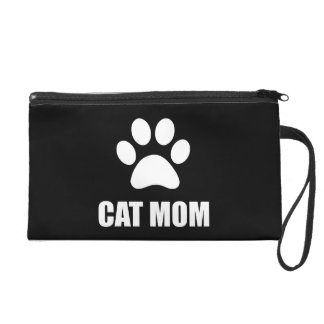 Cat Mom Paw Wristlet Clutch