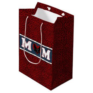 Cat Mom Red Leopard Print Decorative Gift Bag