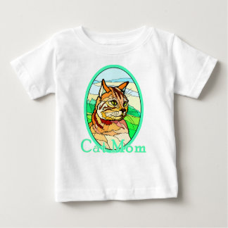 Cat Mom Stained Glass 1 Baby T-Shirt