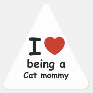 cat mommy design triangle sticker