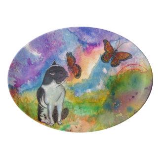 Cat & Monarch Serving Platter