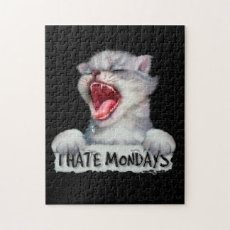 CAT MONDAY CUTE CARTOON PUZZLE 11 X 14