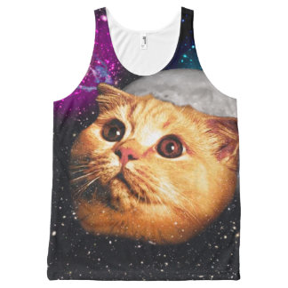 cat moon ,cat and moon ,catmoon ,moon cat All-Over-Print tank top