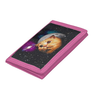 cat moon ,cat and moon ,catmoon ,moon cat tri-fold wallet
