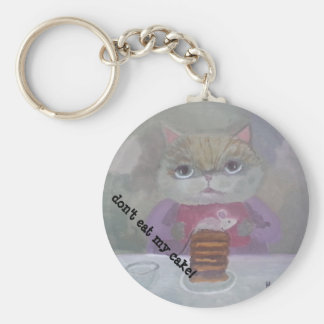 cat & mouse cake art keychain