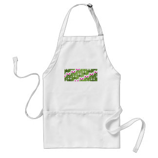 Cat Mouse Pattern green Standard Apron