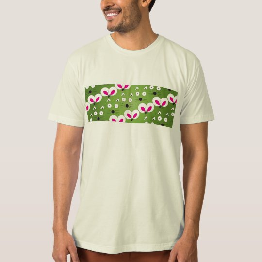 Cat Mouse Pattern green T-Shirt