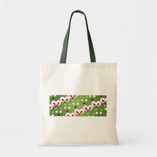 Cat Mouse Pattern green Tote Bag