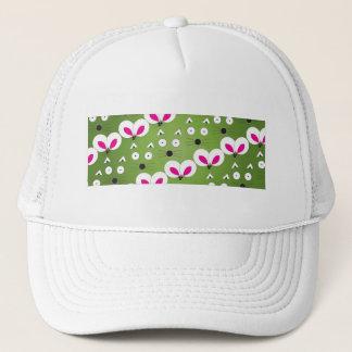 Cat Mouse Pattern green Trucker Hat