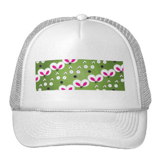 Cat Mouse Pattern green Trucker Hat