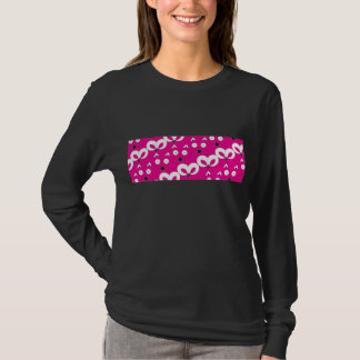 Cat Mouse Pattern Hot Pink T-Shirt