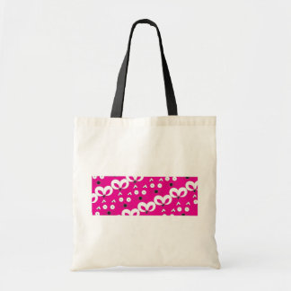 Cat Mouse Pattern Hot Pink Tote Bag