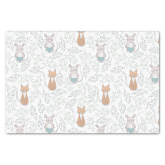 Cat & Mouse Pattern Tissue Paper