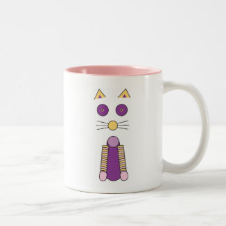 """CAT & MOUSE"" Pink Two-Tone Coffee Mug"
