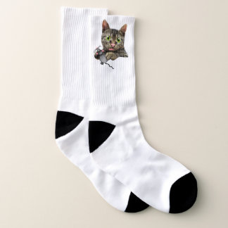 Cat & Mouse Stretch Crew Socks 1