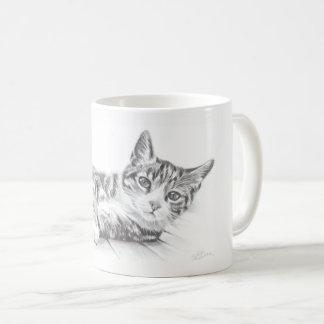Cat mug, cat art mug, cat lovers mug