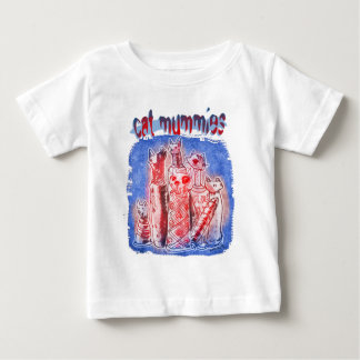 cat mummies blue red with text baby T-Shirt