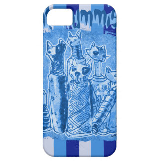 cat_mummies_blue strip case for the iPhone 5