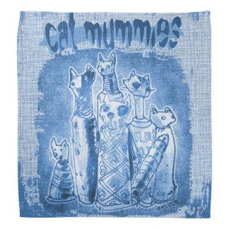 cat mummies blue tint bandana