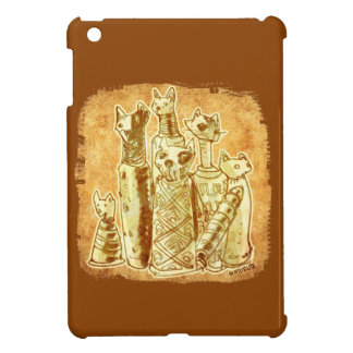 cat mummies carton style illustration iPad mini case