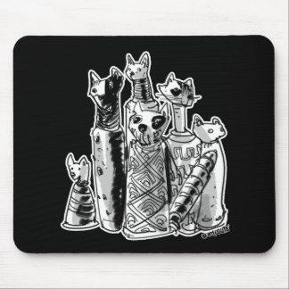 cat mummies cartoon style illustration mouse pad