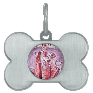 cat mummies pet tag