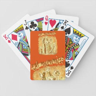 cat mummies poker deck
