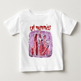 cat mummies purlpe and red baby T-Shirt