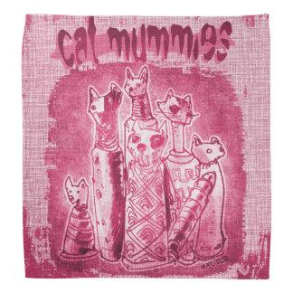 cat mummies purple tint bandana