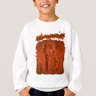 cat mummies rusty orange sweatshirt