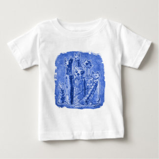 cat mummies sand blue baby T-Shirt