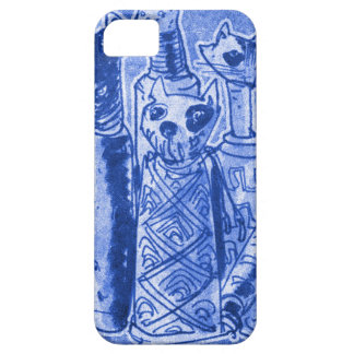 cat mummies sand blue iPhone 5 case