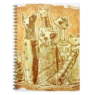 cat mummies spiral notebook