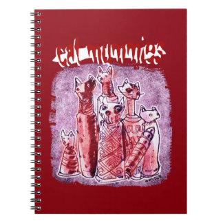 cat mummies spiral notebooks