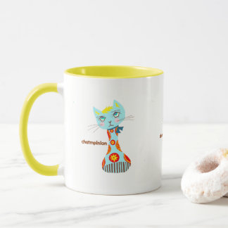 Cat mushroom handle color magnetic cup
