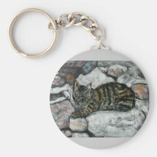 Cat Nap Basic Round Button Keychain