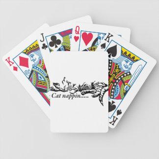 Cat nappin.......... poker deck