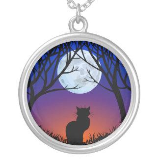 Cat Necklace Black Cat Art Gifts Cat Jewelry