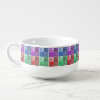 Cat Neon Collage Pop Art Soup Mug