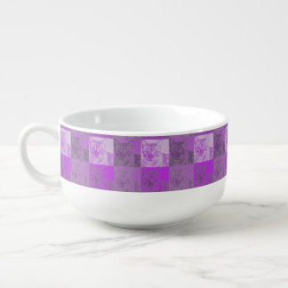 Cat Neon Purple Pop Art Soup Mug