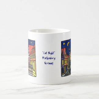 """Cat Night"" in Rothenburg Coffee Mug"